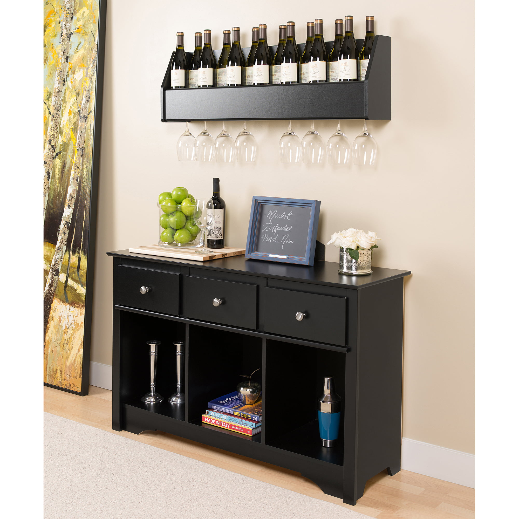 Wall Cabinet Wine Rack Home Decor