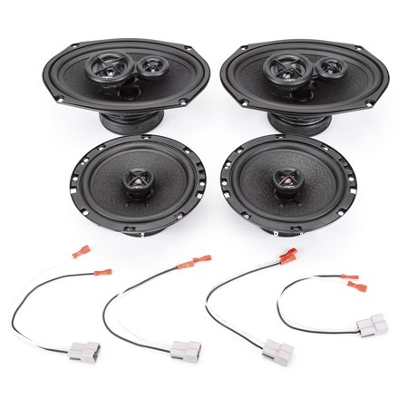 2004-2006 Mitsubishi Galant w Auto Climate Controls Complete Premium Factory Replacement Speaker Package by Skar Audio