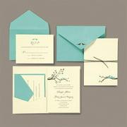brides love birds pocket wedding invitation kit - Wedding Invitations With Rsvp
