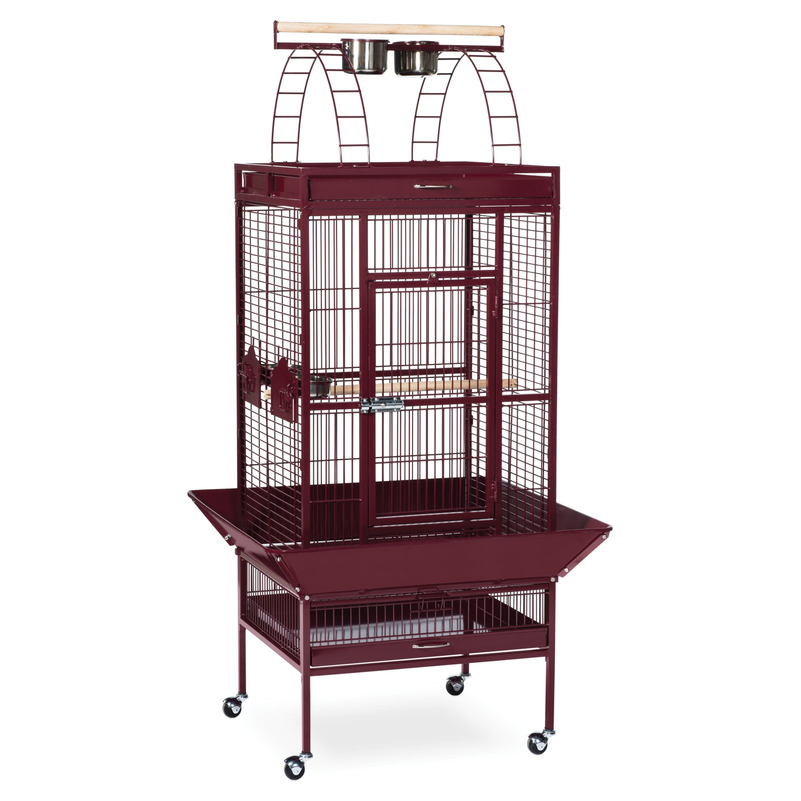 """Garnet Red Select Wrought iron Cockatiel Bird Cage 18""""x18x57"""" by PREVUE PET PRODUCTS"""