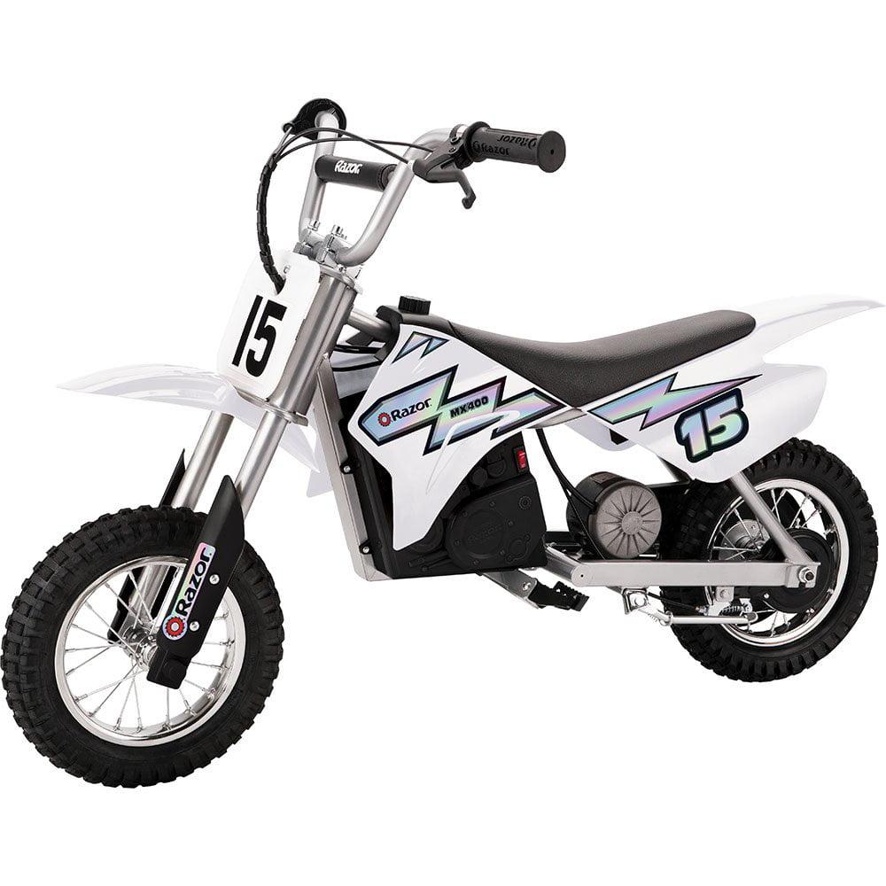 Razor MX400 Dirt Rocket 24V Electric Toy Motocross Motorcycle Dirt Bike, White by Razor