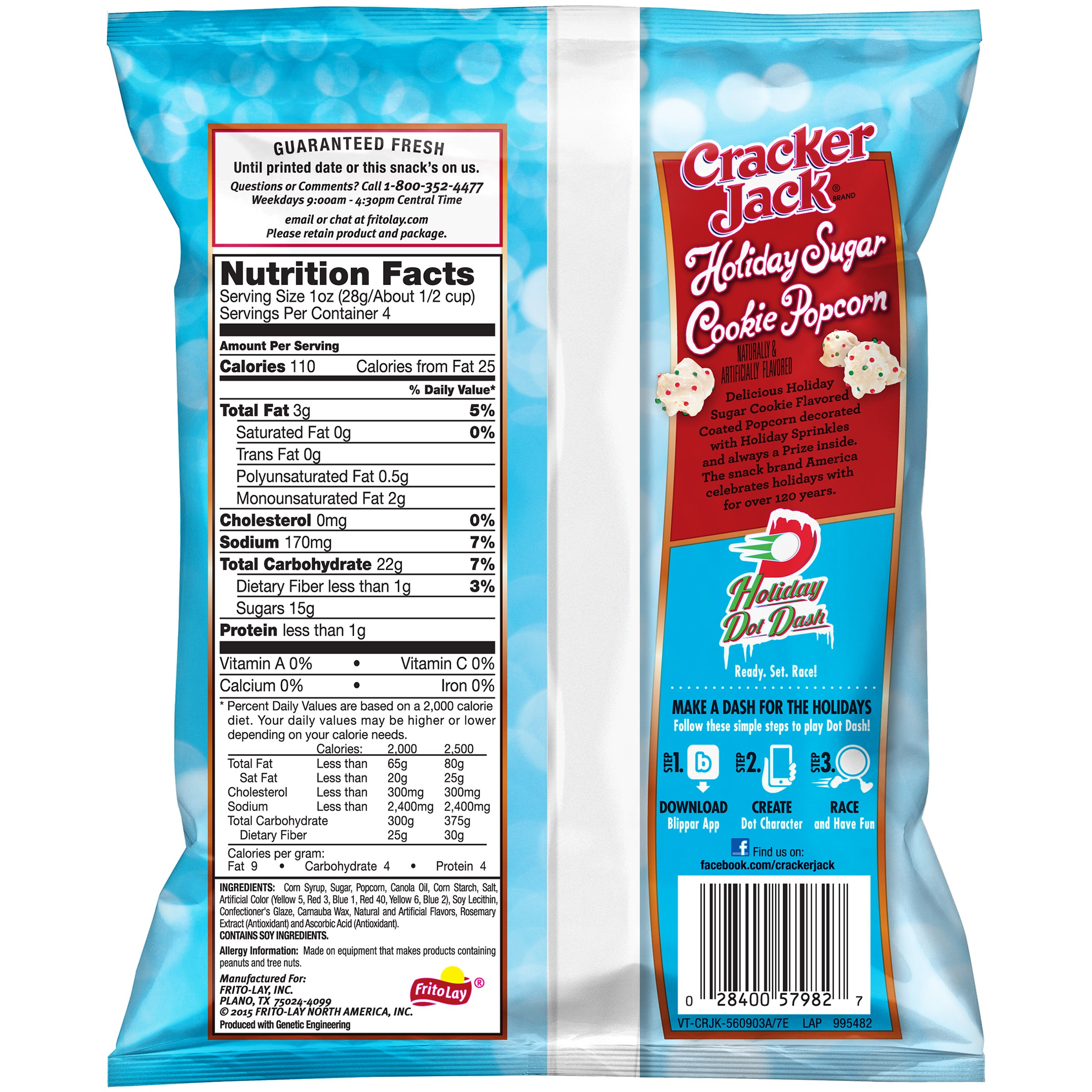 Cracker Jack? Holiday Sugar Cookie Popcorn 4 oz. Box - Walmart.com