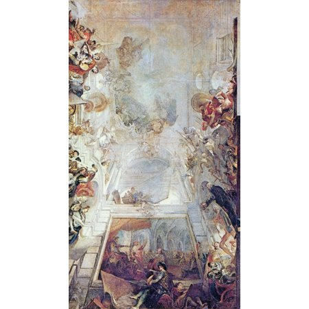 Framed Art for Your Wall Holzer, Johann Evangelist - Design for a ceiling painting 10 x 13 Frame