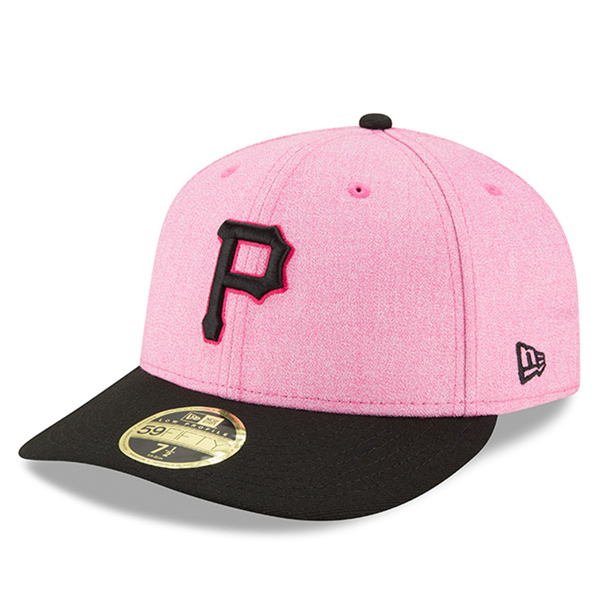 Pittsburgh Pirates New Era 2018 Mother's Day On-Field Low Profile 59FIFTY Fitted Hat - Pink/Black