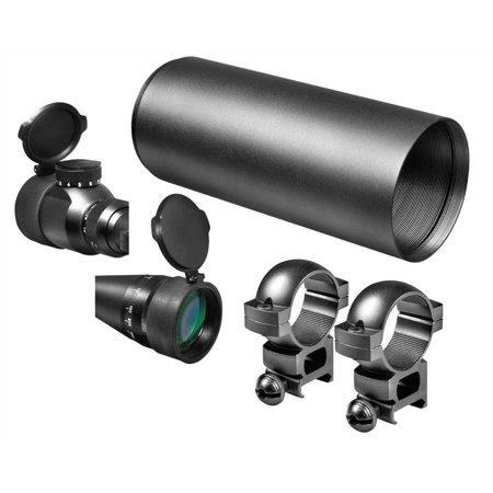 Barska 4-16x50 Excavator Adjustable Objective Riflescope, Black w/ Illuminated R