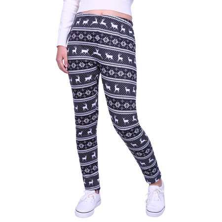 10c3aae288100 HDE - HDE Women's Winter Leggings Warm Fleece Lined Thermal High Waist  Patterned Pants - Walmart.com
