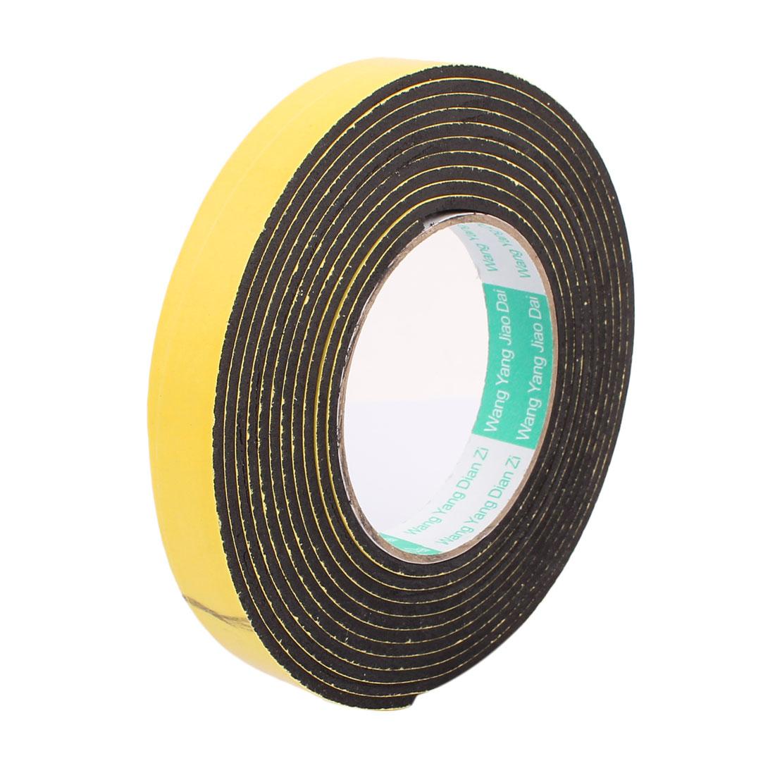 20mm Width Single Side Self Adhesive Shockproof Sponge Foam Tape 4 Meters Length