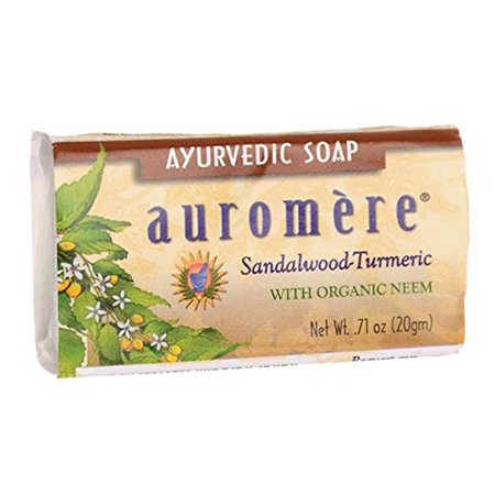 Auromere Ayurvedic Bar Soap Sandalwood Tumeric, 0.71 oz