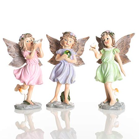 Delton 5.5 Inches Resin Standing Fairies,Set Of 3 - image 1 of 1