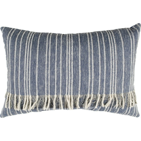 Lace Fringe Pillow (Better Homes & Gardens Fringed Blue Denim Decorative Pillow)