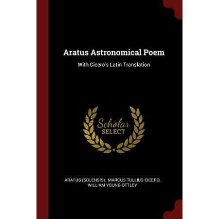 Aratus Astronomical Poem With Cicero S Latin Translation