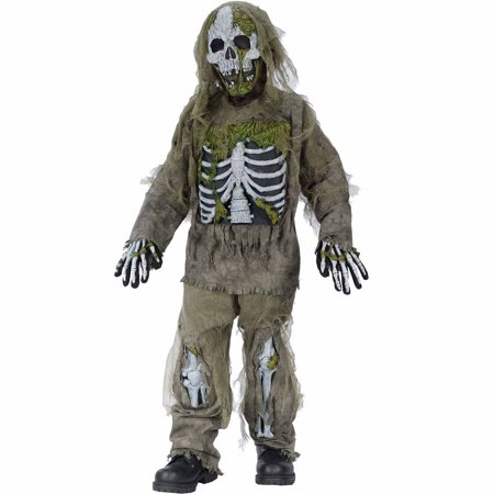 Skeleton Zombie Child Halloween Costume](Clipart Halloween Skeleton)