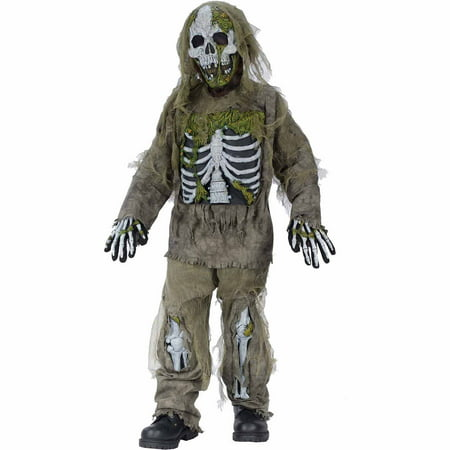 Skeleton Zombie Child Halloween Costume](Plants Vs Zombies Zombie Halloween Costume)