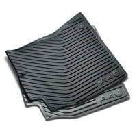 Genuine OE Audi All Weather Floor Mats - Rear - Black 8K0-061-511-041
