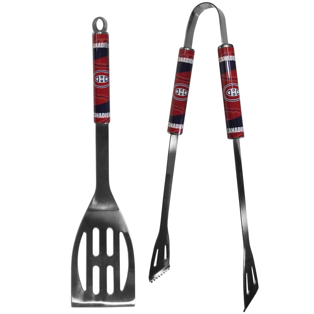 Montreal Canadiens 2 pc Steel BBQ Tool Set