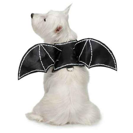 Zack & Zoey UM9265 24 Bat Glow Wing Harness Costume - Extra Large - Bat Wings Dog Costume