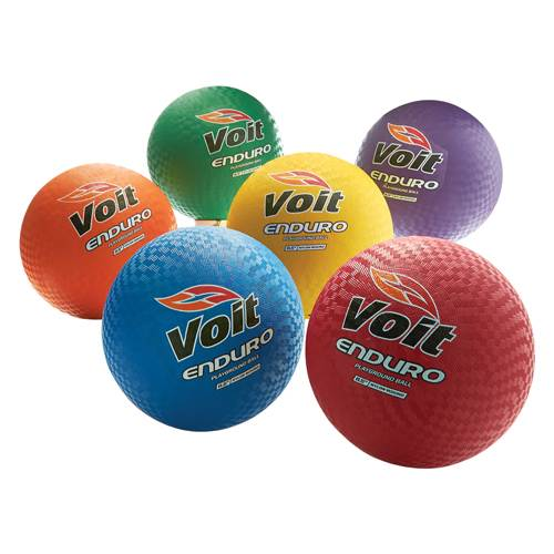 "Voit® Enduro 8.5"" Playground Ball, Rainbow Pack of 6"