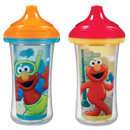 Munchkin Sesame Street Click Lock 9 Oz Insulated Sippy Cup, BPA-Free, 2 count