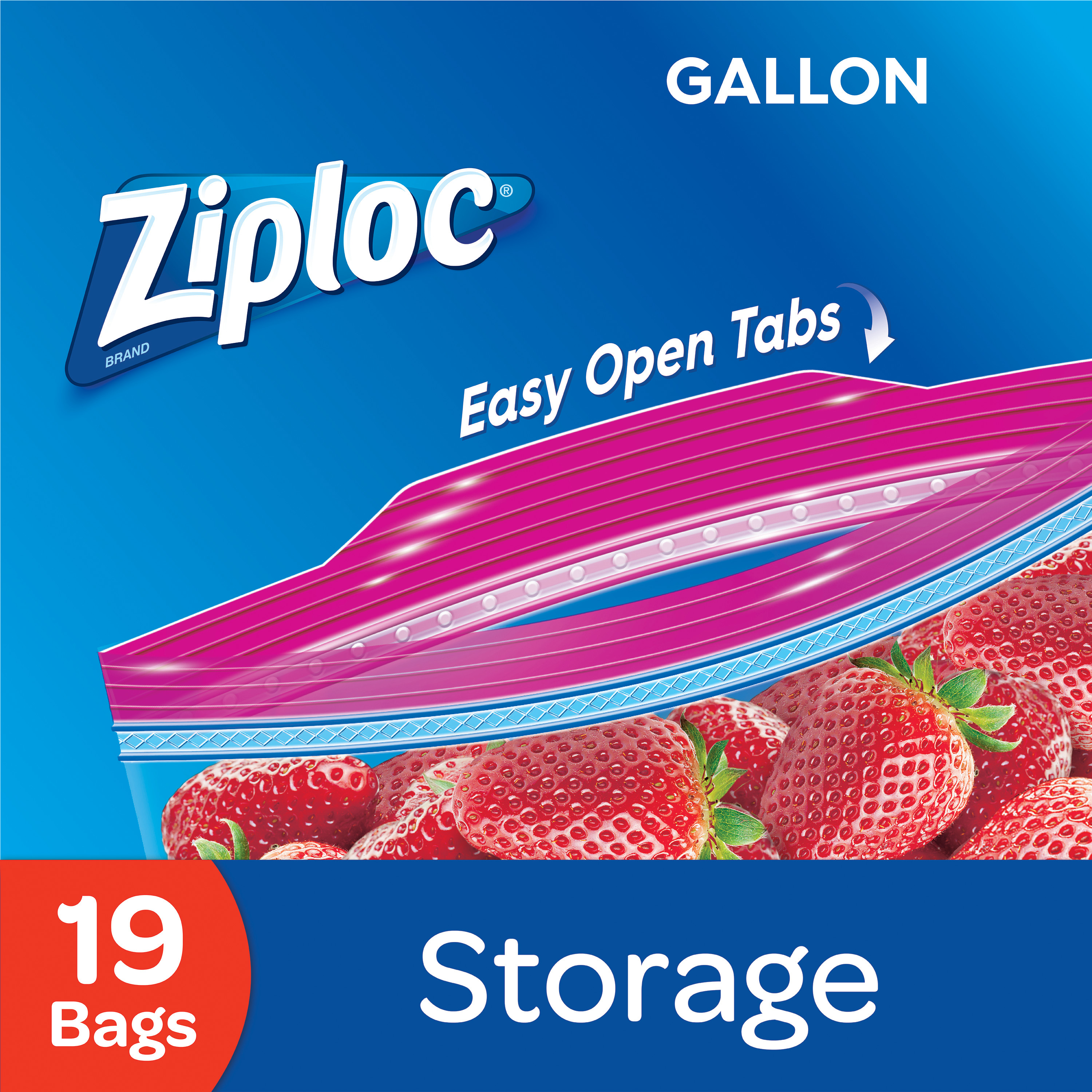 Ziploc Pinch and Seal Storage Bags, Gallon, 19 Ct
