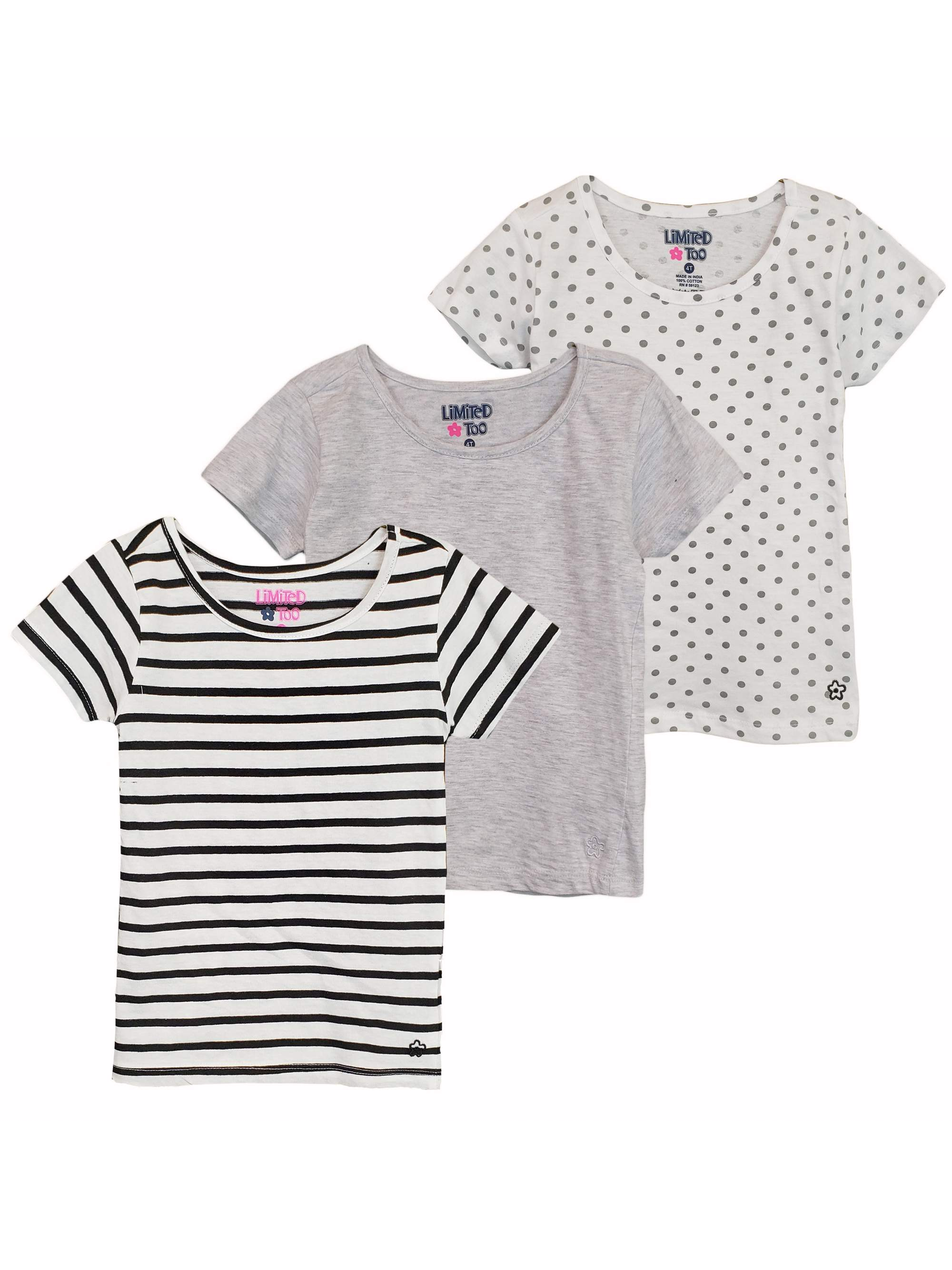 Knit T-Shirts, 3-Pack (Toddler Girls)