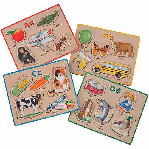 """School Specialty ABC Puzzles, 8.5"""" x 6.75"""", Set of 26, Wooden"""