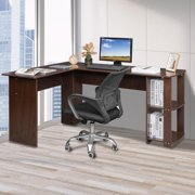 Zimtown L-Shaped Computer Desk Wooden Laptop PC Table Office Study Workstation