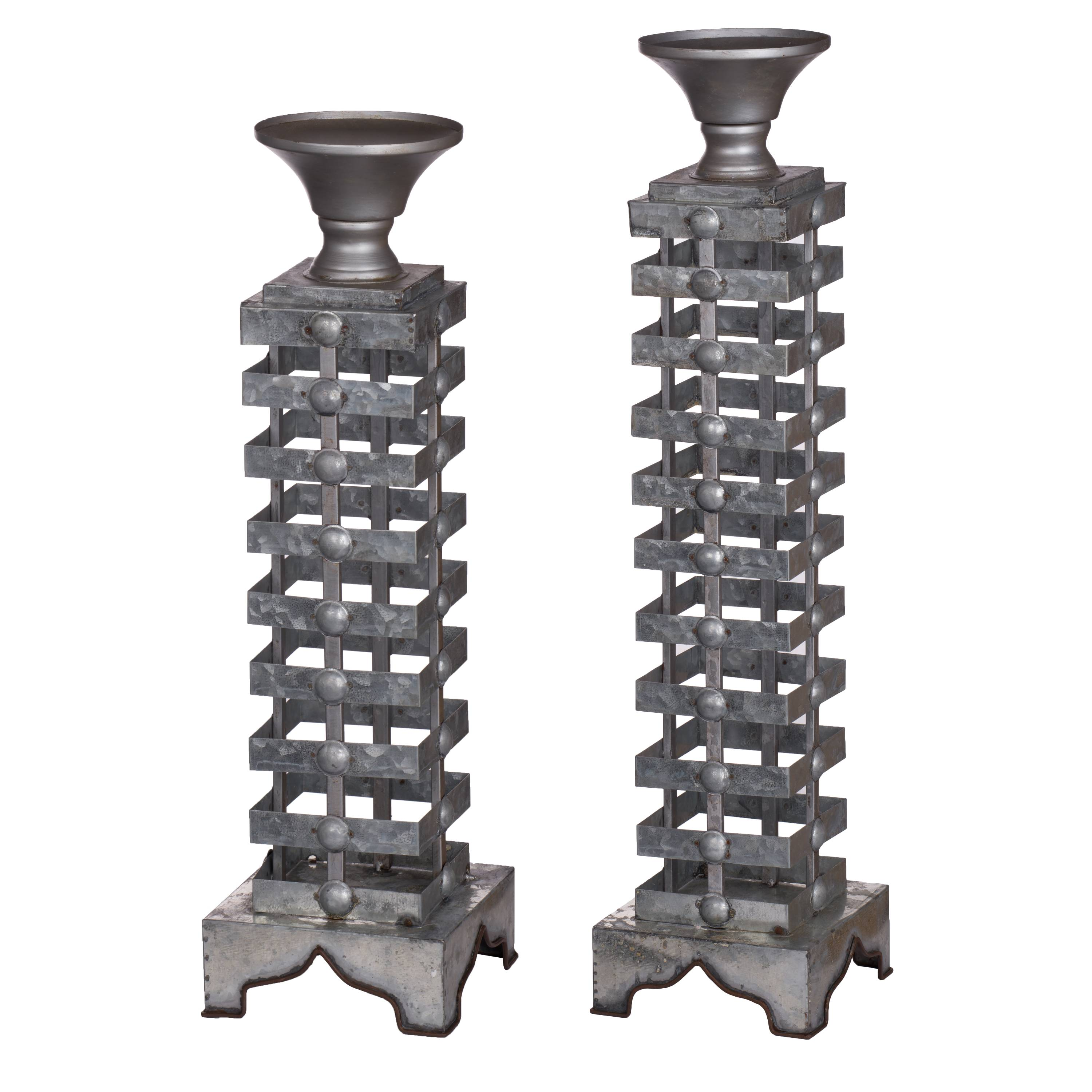A&B Home Iron Candle Holders, Set of 2