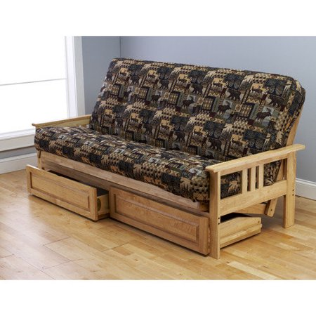 Monterey Futon in Natural Finish with Peter's Cabin Mattress