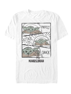 Star Wars Mandalorian The Child Doodle Men's and Big Men's Graphic T-shirt