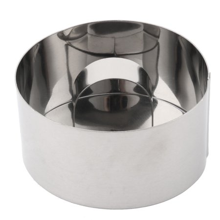 Kitchen Metal Round Bread Cookie Dessert Cake Cutter Making Mould Silver Tone ()