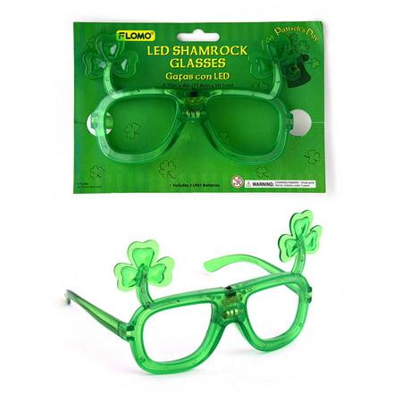 St. Patricks Day LED Shamrock Glasses by FLOMO](St Patricks Day Glasses)