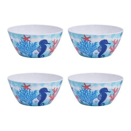 Mainstays Outdoor Melamine Sealife Bowl, Set of 4