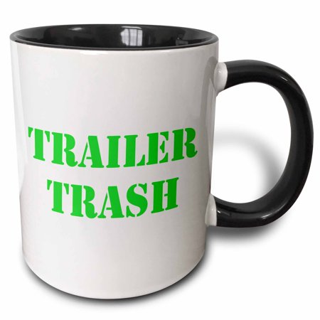 Trailer Trash Halloween Ideas (3dRose Trailer Trash Green - Two Tone Black Mug,)