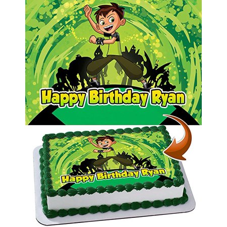 Ben 10 Edible Image Cake Topper Personalized Icing Sugar Paper A4 Sheet Edible Frosting Photo Cake 1/4 Edible Image for cake (Ben 10 Cake Topper)