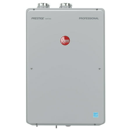 - Rheem RTGH-84DVLN-2 Prestige 8.4 GPM Natural Gas High Efficiency Indoor Tankless Water Heater