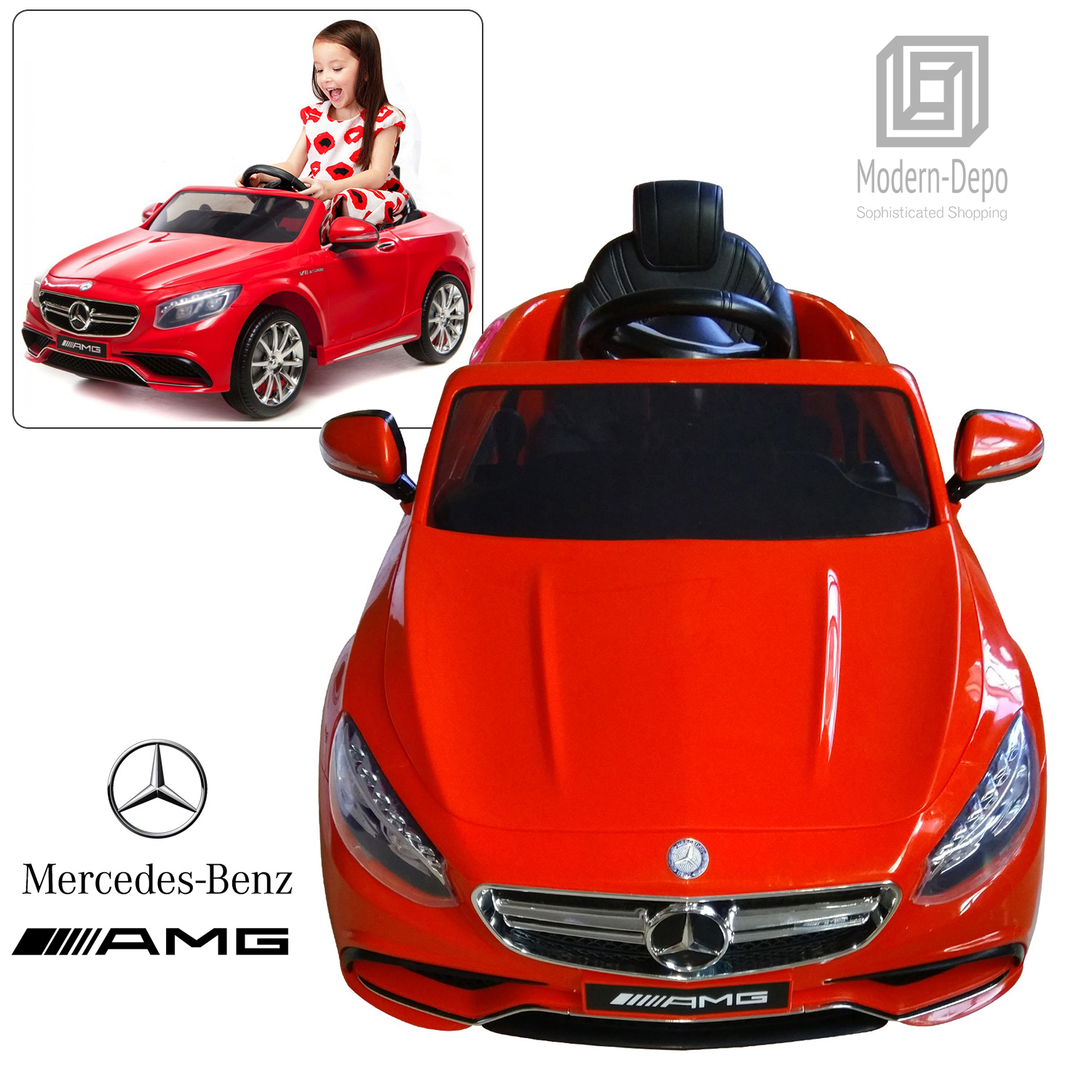 Official Licensed Mercedes Benz AMG S63 Kids Ride On Car & Bentley GTC & Land Rover Evoque Baby Car Toy by