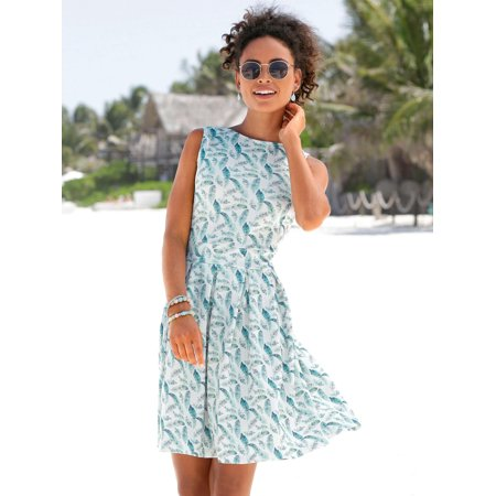 Topcobe Sleeveless Maxi Dresses for Women, Women's Floral Print Summer Dresses for Ladies, Green Casual Fit Boho Beach Tank Mini Dress for Juniors, S-XL