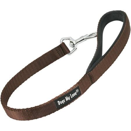 Short Dog Leash Padded Handle Wide Nylon Traffic Lead 22