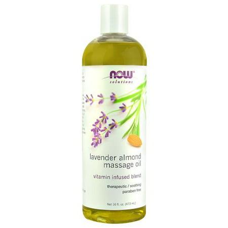NOW Foods Lavender Almond Massage Oil, 16 Fl Oz