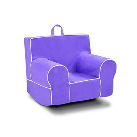 Magnificent Kangaroo Trading Classic Grab N Go Kids Foam Rocker Chair With Handle Perfectly Plum With White Welt Uwap Interior Chair Design Uwaporg
