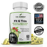 Taiy Nutrition The Big 3 Extra Strength Appetite Suppressant Garcinia Cambogia Raspberry Ketones Green Coffee Bean Extract, Natural Weight Loss Pills, Super Metabolism Booster, 60 Capsules