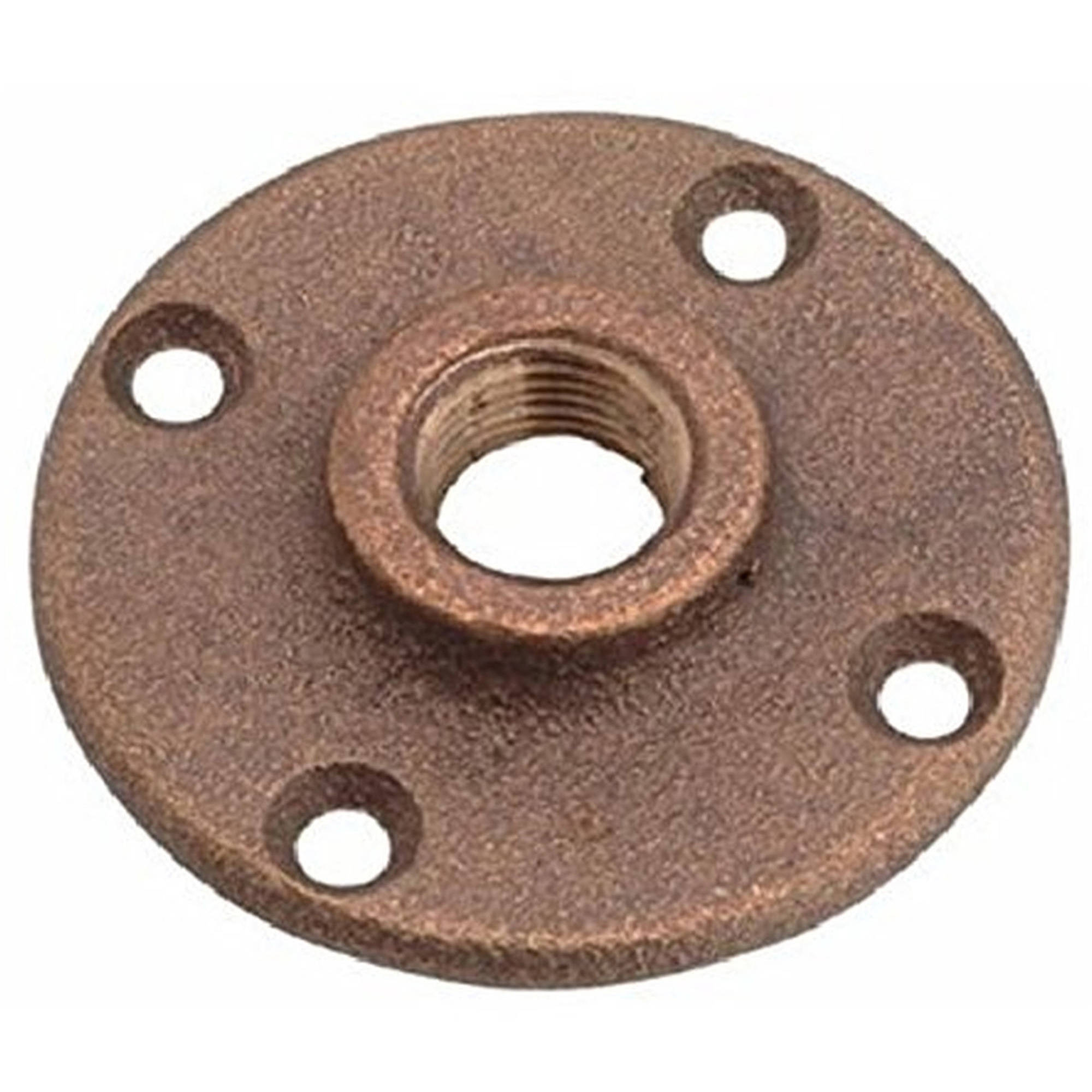 "Everflow Supplies BRFF0100-NL 1"" Threaded Brass Floor Flange with Holes, Lead Free"