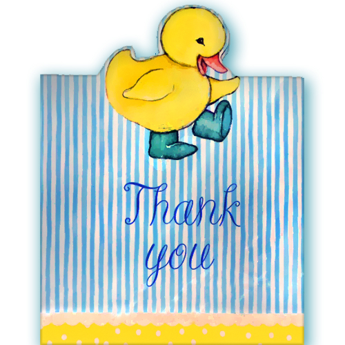 Duckling Baby Shower Thank You Notes w/ Envelopes (8ct)