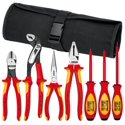 Knipex 989825US 7-Piece 1000V Insulated Pliers Tool Set