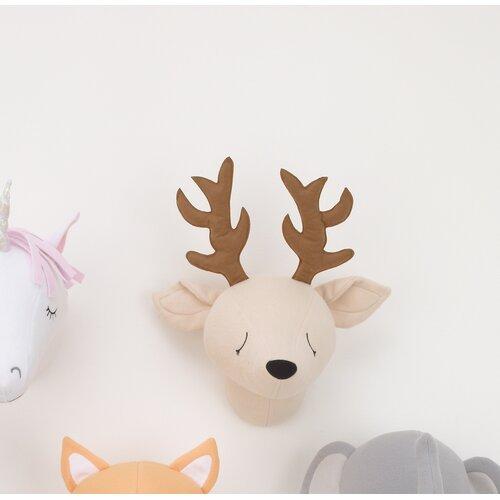 Little Love by NoJo Beige Deer Plush Head Wall Décor