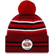 San Francisco 49ers New Era 2019 NFL Sideline Home Official Sport Knit Hat - Scarlet/Black - OSFA