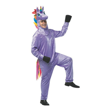 Unicorn Men's Adult Halloween Costume, One Size, (40-46) - Adult Unicorn Halloween Costume