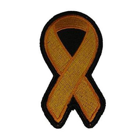 ORANGE RIBBON FOR LEUKEMIA AND MULTIPLE SCLEROSIS AWARENESS PATCH