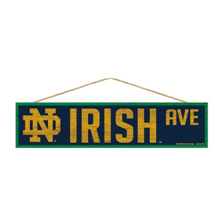 Notre Dame Fighting Irish Official NCAA Wood Street Wall Sign 4x17 by Wincraft 880505