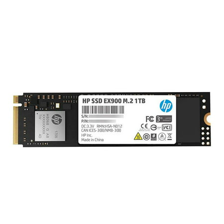 HP EX900 M.2 1TB PCIe 3.1 x4 NVMe 3D TLC NAND Internal Solid State Drive (SSD) Max 2100 MBps